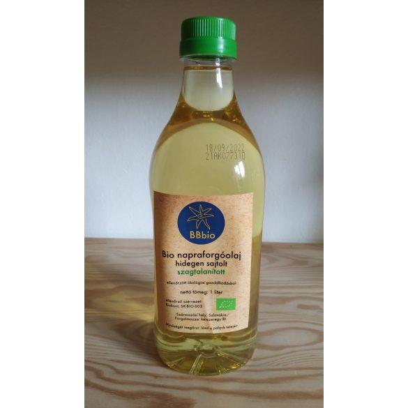 Bio napraforgóolaj - hidegen sajtolt és szagtalanított - BBbio - 1 l