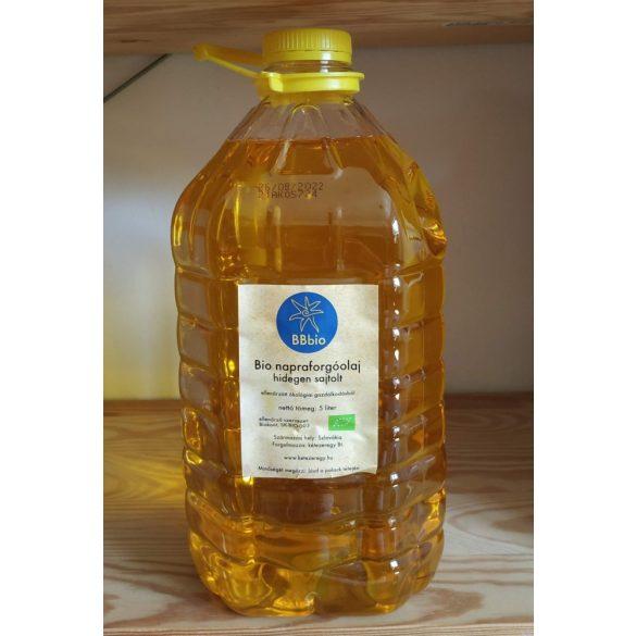 Bio napraforgóolaj - hidegen sajtolt - BBbio - 5 l