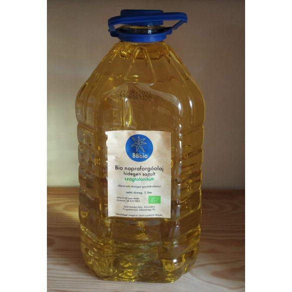 Bio napraforgóolaj, szagtalanított - BBbio - 5 l