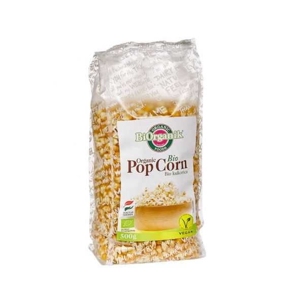 bio patogatottra való kukorica - popcorn-, 500g - BiOrganik