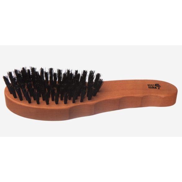 Haarpflege-Bürste, stark, Griff aus Birnbaumholz