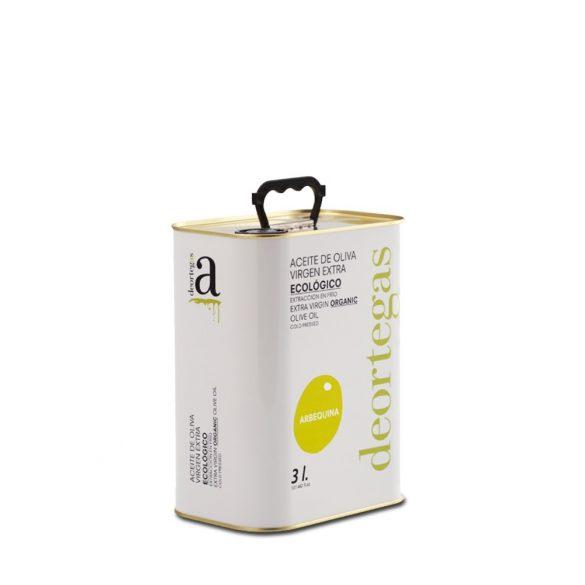Bio olivaolaj extra szűz, ARBEQUINA - deortegas - 3 l