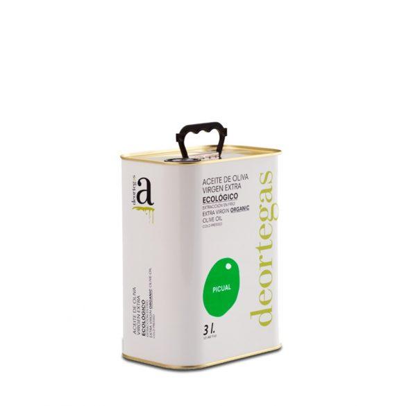 Bio olivaolaj extra szűz, PICUAL - deortegas - 3 l