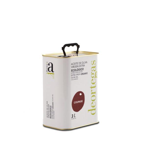 Bio Olivenöl extra virgin, COUPAGE - deortegas - 3 l