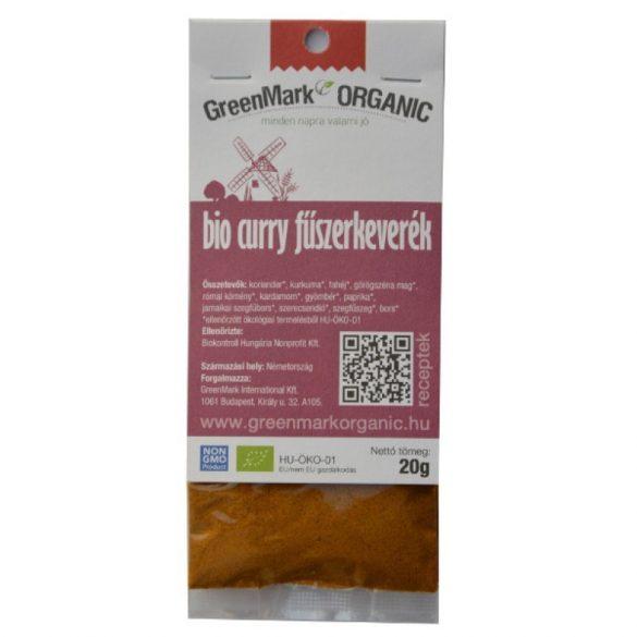 Bio Curry fűszerkeverék (GreenMark) 20 g