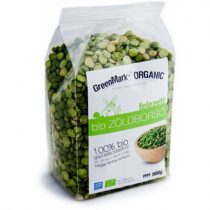 Bio Zöldborsó felezett (Greenmark) 500g