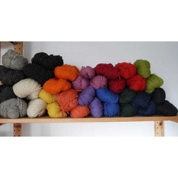 Bio-Wolle - gefärbt - dunkelrot