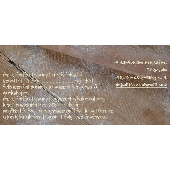 Ajándékutalvány a kovászos kenyérsütő workshopokra